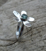 Green Fluorite daisy ring