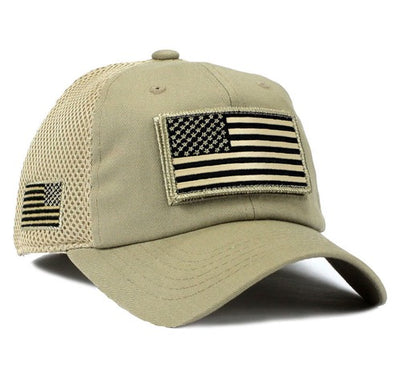 Stealth American Flag Hat w/ Removable Patch