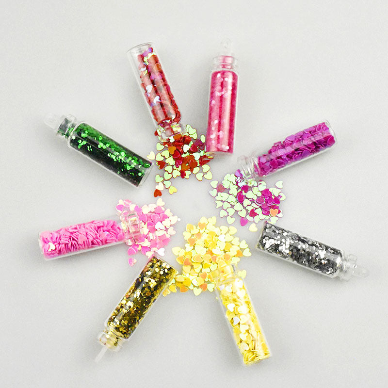 DIY 48 Color Glass Bottle Glitter Sequin Jewelry