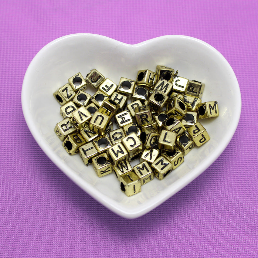 Acrylic English Alphabet Beads