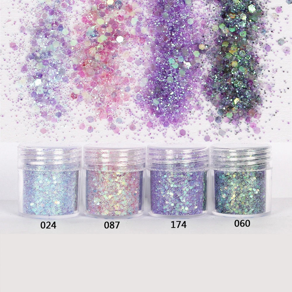 Fine Glitter + 1mm Small Sequins - infinity actually