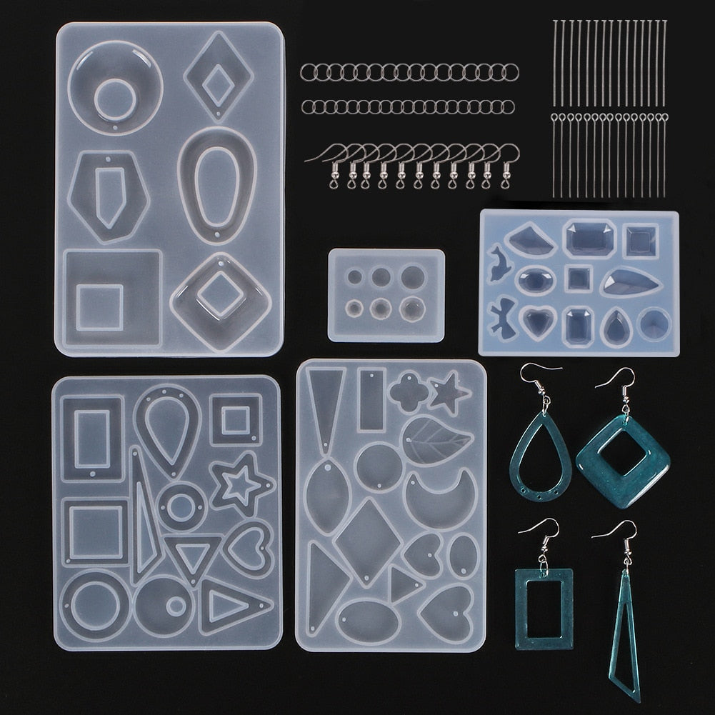 Earrings And Pendant Silicone Mold & Hooks Kit