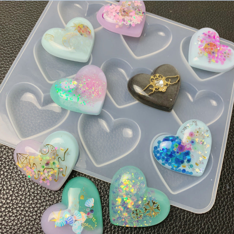 9 Even Hole Love Mirror Mould