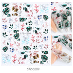 Japanese Watercolor 3D Nail Stickers