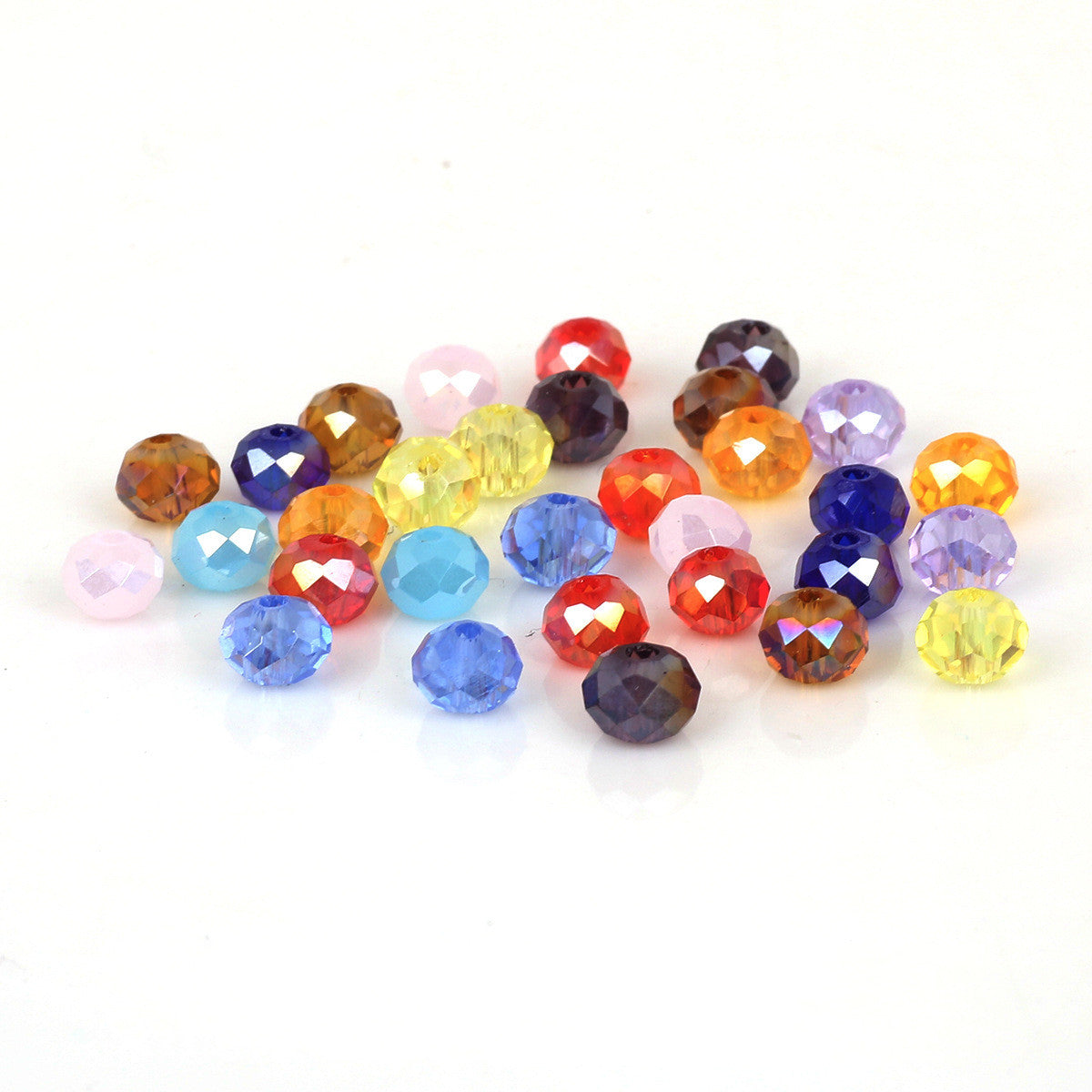 Crystal Beads Glass Flat Beads