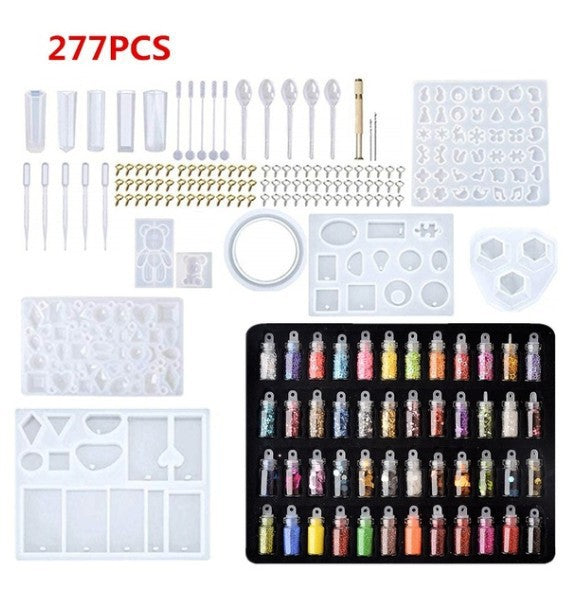 277Pcs Molds Set & Tools For DIY Jewelry