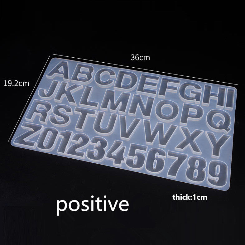 Alphanumeric Silicone Mold Reverse Option Available