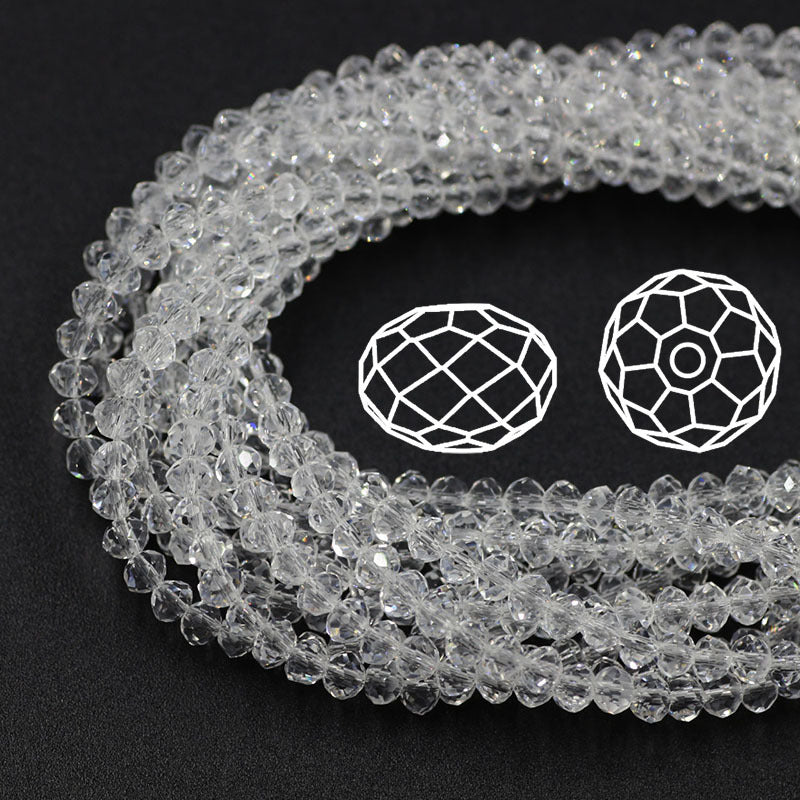 Transparent Crystal Flat Beads