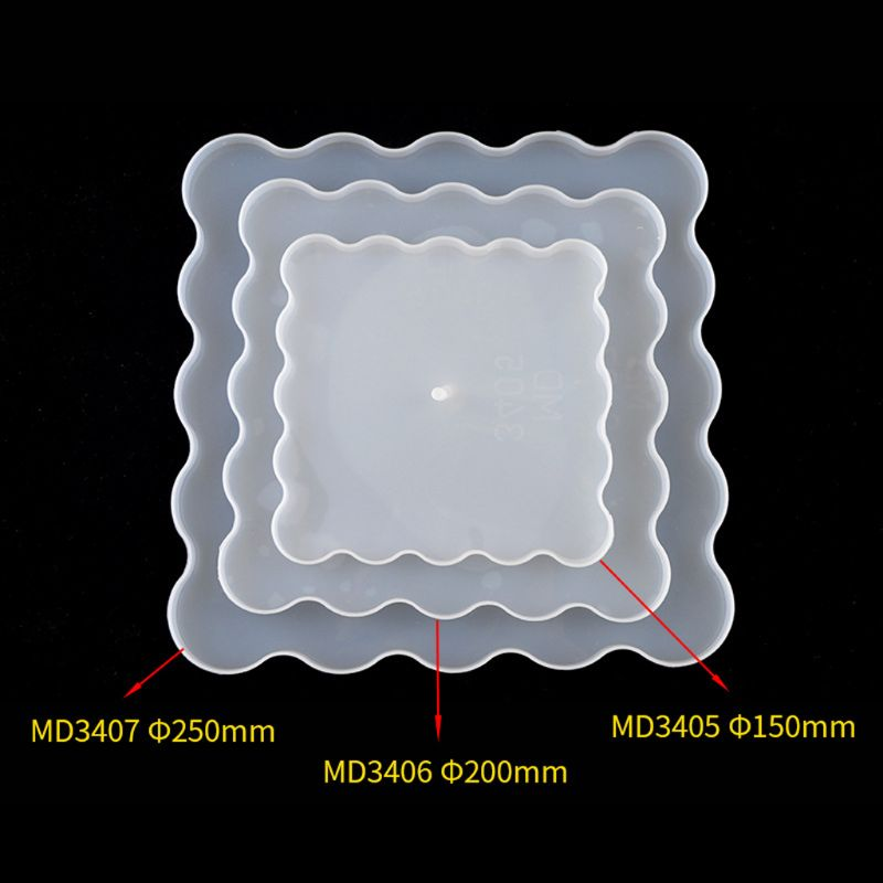 3 Layers Irregular Square Plate Resin Mold