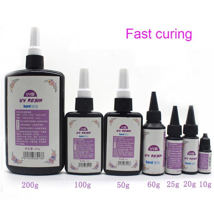 UV Crystal Epoxy Glue UV Curing Resin DIY