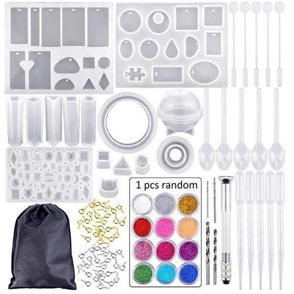 Crystal Glue Mold Set (83 Pcs) - infinity actually