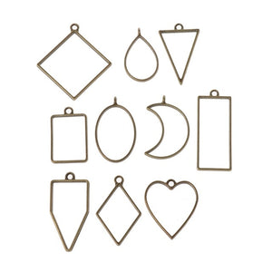 Assorted Geometric Frames For DIY Pendant - infinity actually