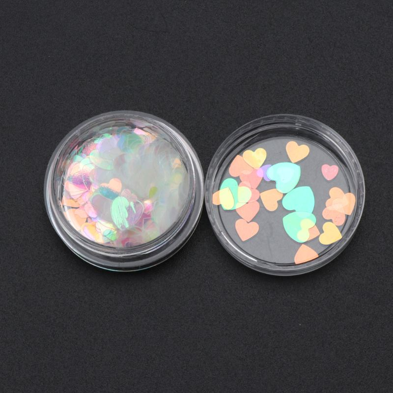 Heart Star Hexagon Shape Sequins DIY Resin Fillings - infinity actually