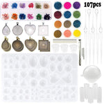 Crystal Glue Mold Set & Accesories For DIY Jewelry (107 pcs) - infinity actually
