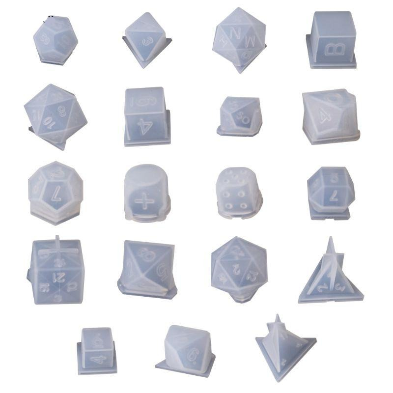 19 Shapes Dice Silicone Mold Set