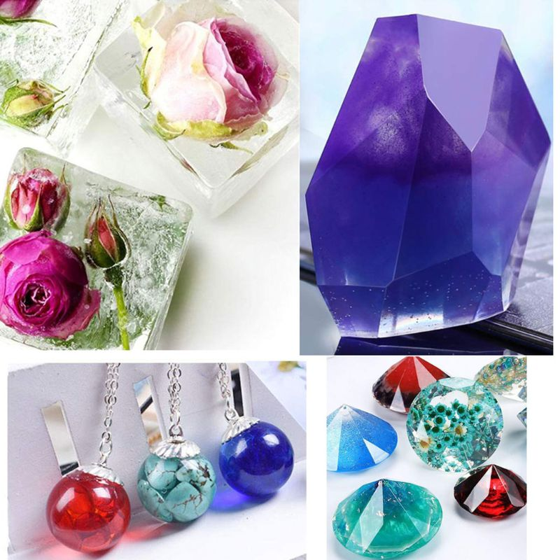 Set Cube Pyramid Sphere Diamond Stone Resin Mold - infinity actually