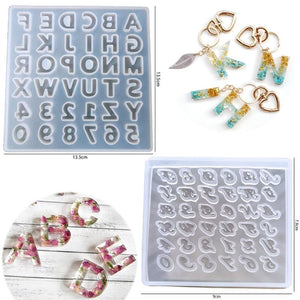 Alphabet Pendant Silicone Resin Molds Personalized Keychain Jewelry Tools