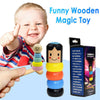 LITTLE WOODEN MAN WHO CAN'T BEAT INTERESTING MAGIC TOY - hifivestore-c