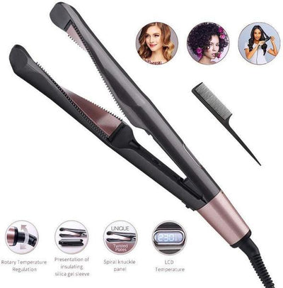 [50% OFF PROMOTION & FREE SHIPPING]2 in 1 Hair Curler and Straightener - hifivestore-c