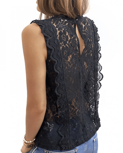 [50% OFF Today & FREE SHIPPING]Lace V Neck Tunic (2 Colors) - hifivestore-c