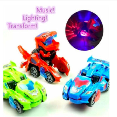 [LAST DAY PROMOTION, 50% OFF]TRANSFORMING DINOSAUR LED CAR - hifivestore-c