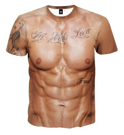MUSCLE TATTOO ALL OVER PRINT T-SHIRT - hifivestore-c