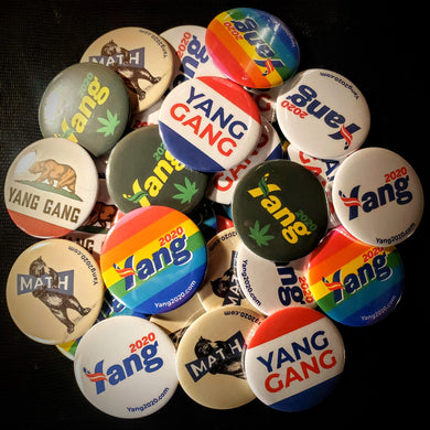 25 Pack of YangButtons!