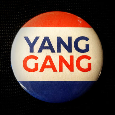 Yang Gang Tri-Color Button