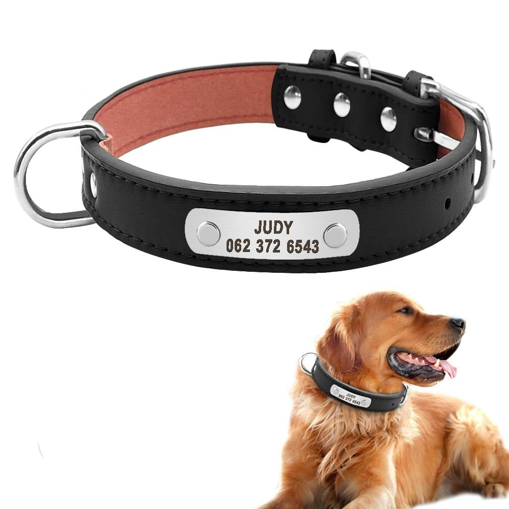 PU Leather Dog Collar