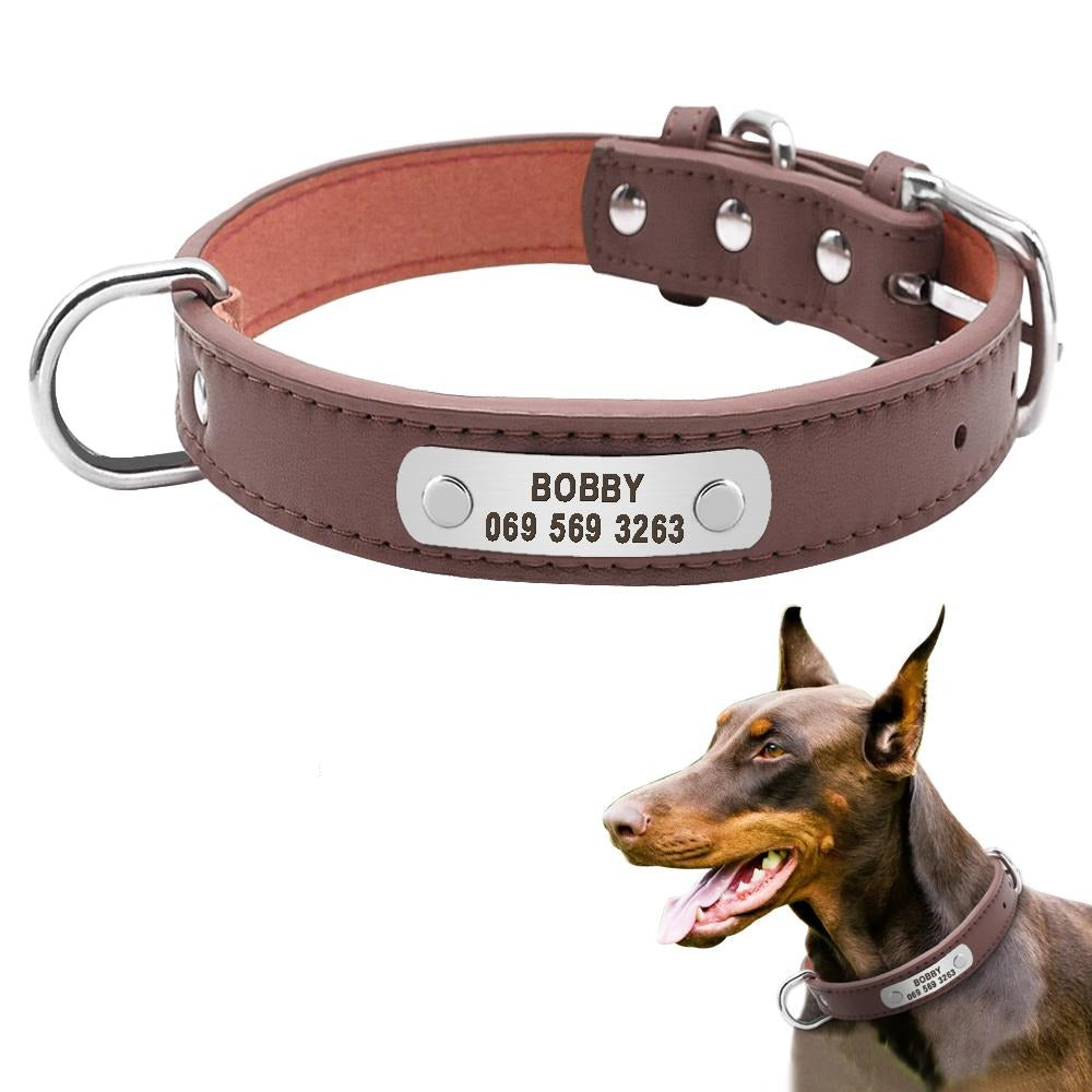 PU Leather Padded Pet Collar