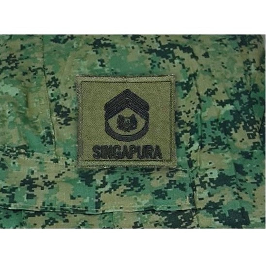 1WO Mini Rank , Velcro Patch, OD Green