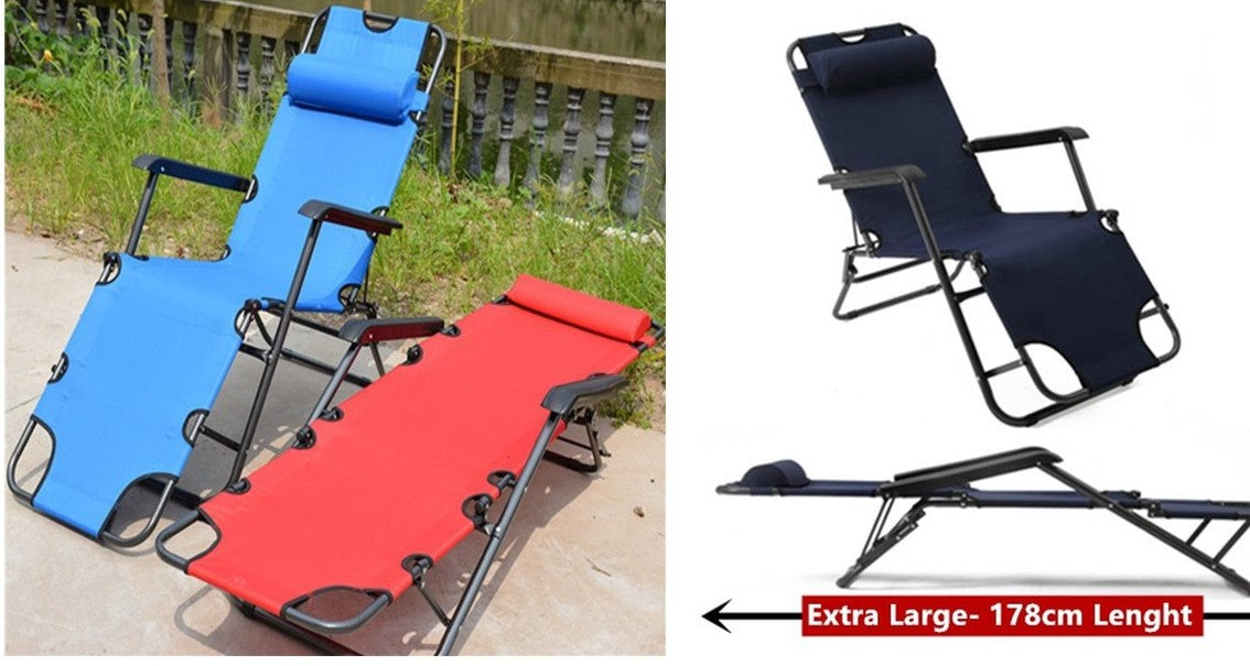 Outdoor 2 Way Bed, Camping Bed, Foldable, Royal Blue