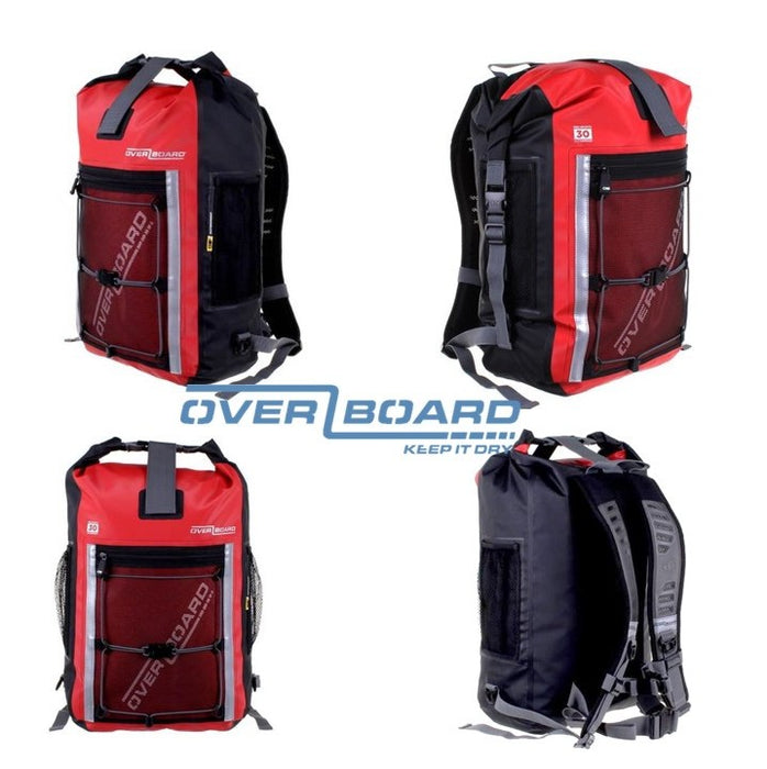 Pro-Sports Waterproof Backpack 30L, OverBoard, Red