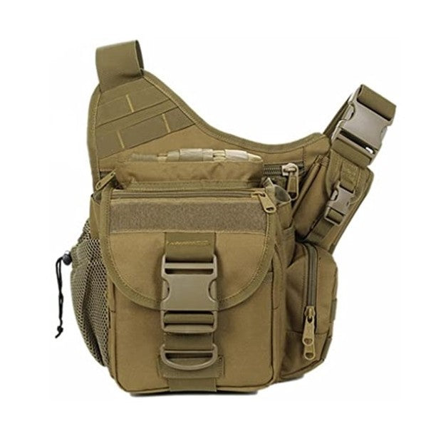 Multi-Functional Military Tactical Messenger Bag EDC Molle Shoulder Pack, Khaki