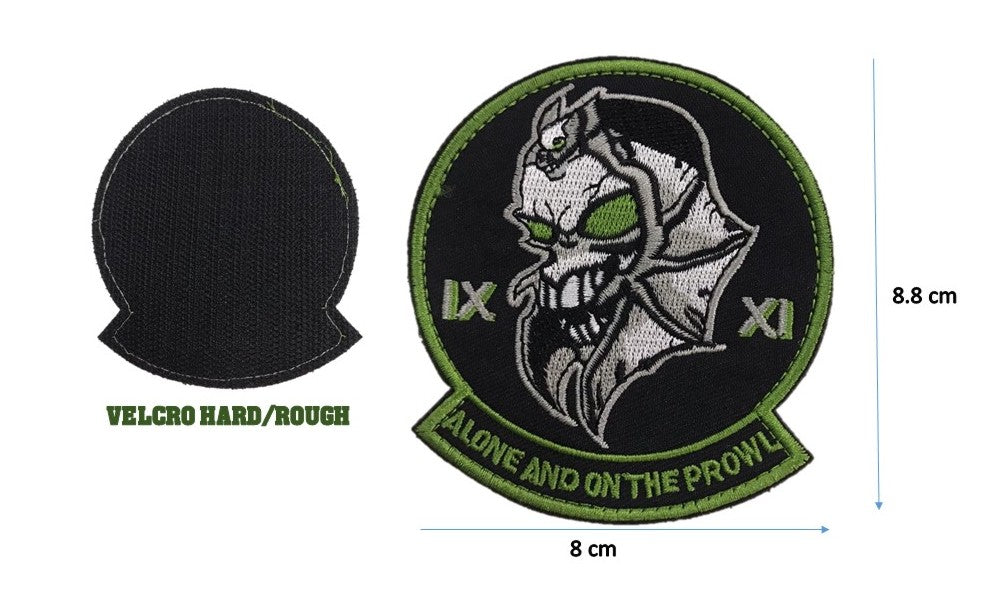 Skull Bat XI Patch, with Velcro