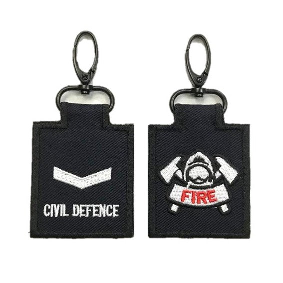 SCDF LCP with Fire Badge Mini Rank Keychain