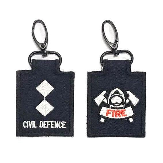 SCDF LTA with Fire Badge Mini Rank Keychain