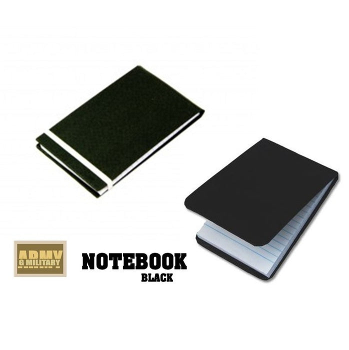 Notebook, black , pocket size