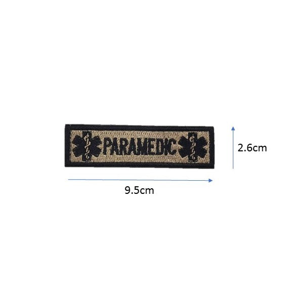 Paramedic Embroidery Patch Light Khaki