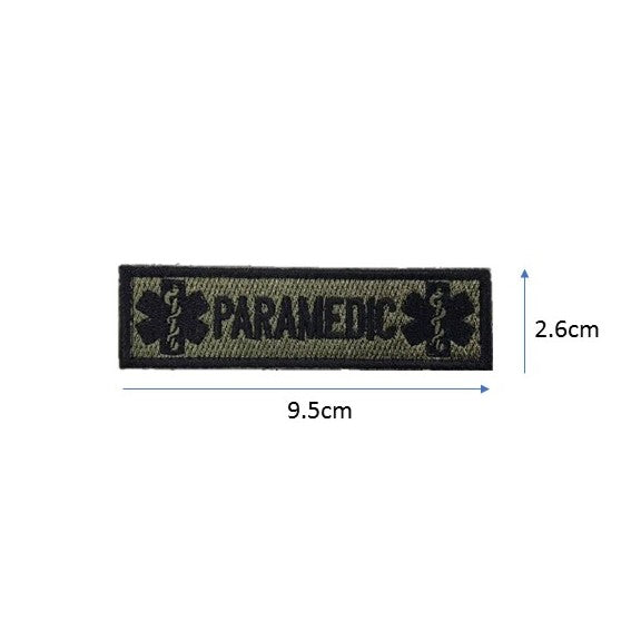 Paramedic Embroidery Patch Army Green