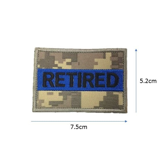 Retired Embroidery Patch Pixel Grey / Blue