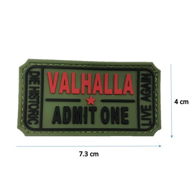 Valhalla Green  Rubber Patch with Velcro