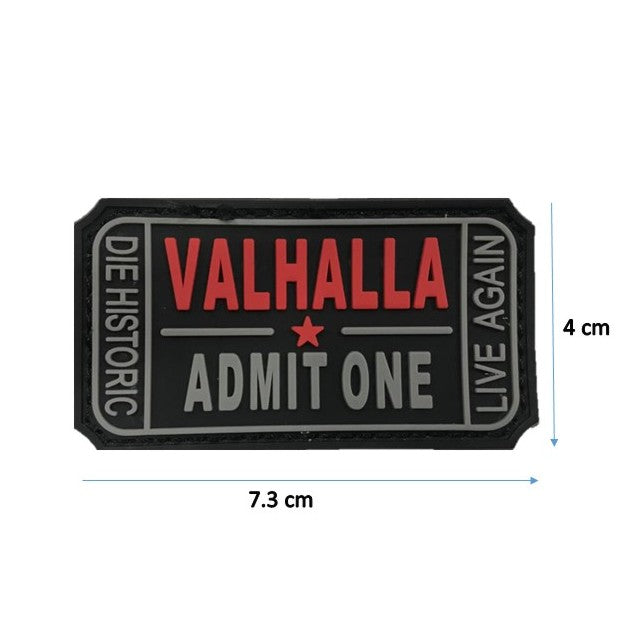Valhalla Black Rubber Patch with Velcro