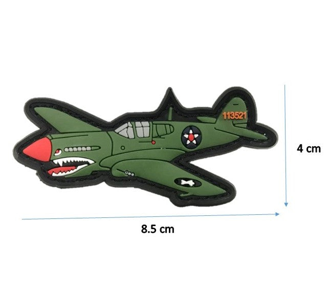 113521 Fighter Plane Patch With Velcro
