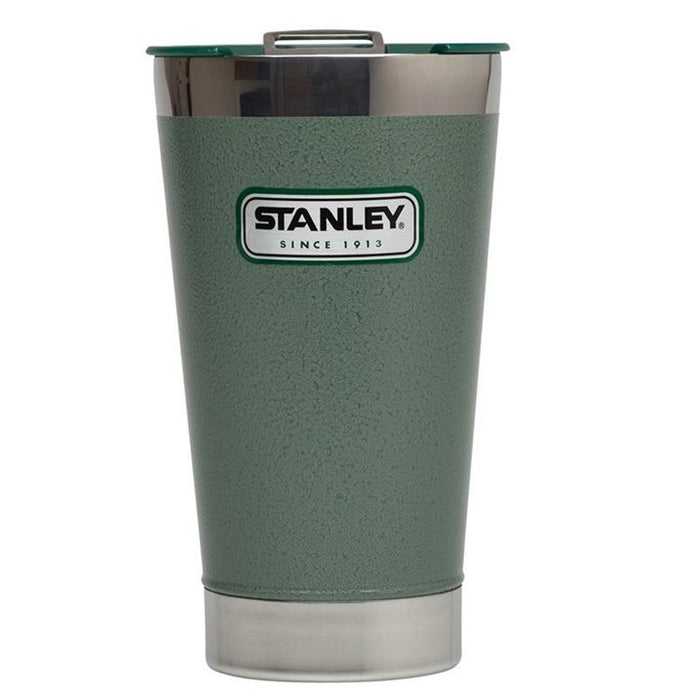 Classic Vacuum Steel Pint 473ml , Hammertone Green