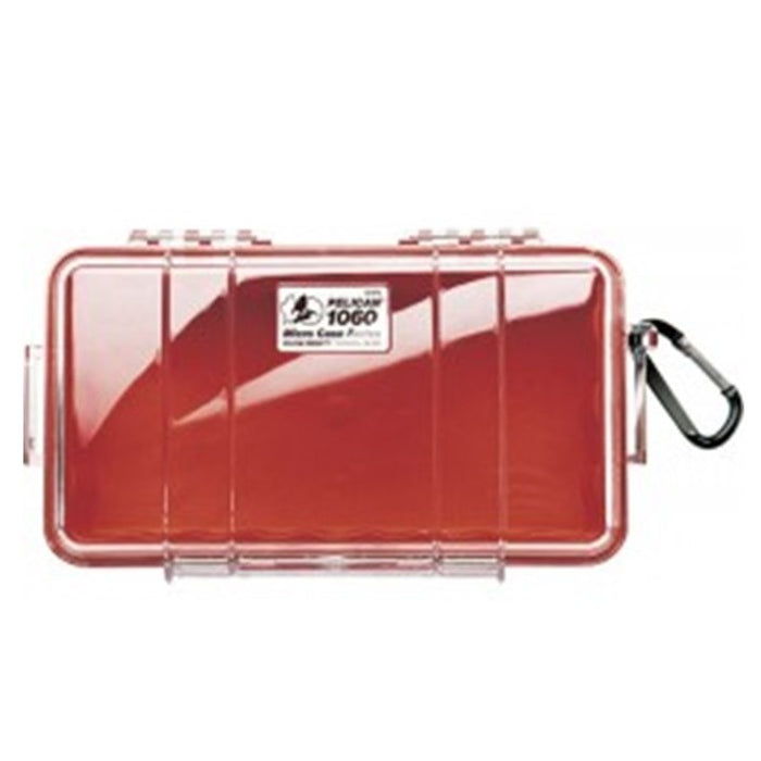 PELICAN CLEAR COVER 1060 MICRO CASE , Red