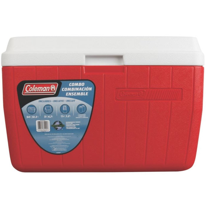 5-Piece 54 Quart Cooler Combo , Red