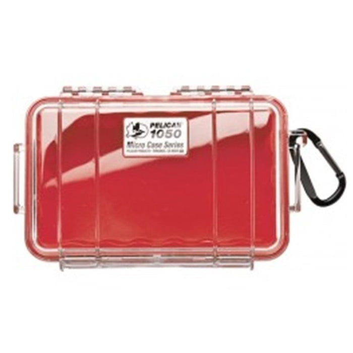 PELICAN CLEAR COVER 1050 MICRO CASE , Red