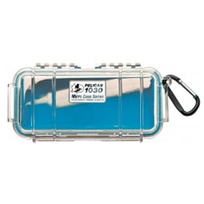 PELICAN 1030 CLEAR COVER MICRO CASE , Blue