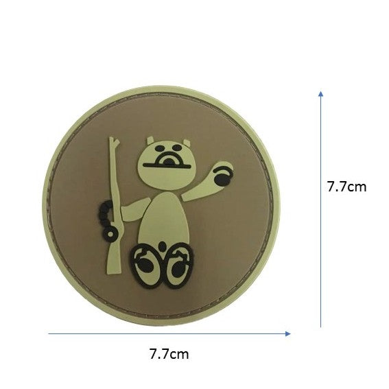 Beary Rifle Rubber badge